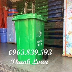 Thùng rác nhựa 100L đựng rác sinh hoạt, thùng rác công nghiệp 100L