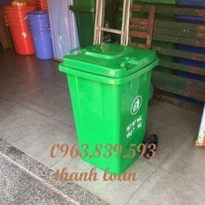 Thùng rác nhựa 100L đựng rác sinh hoạt, thùng rác công nghiệp 100L./ 0963.839.593 Ms.Loan