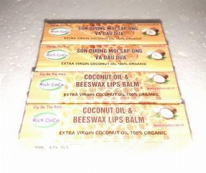 Dầu dừa dưỡng môi dầu dừa bôi môi mật ong dạng chai bi lăn