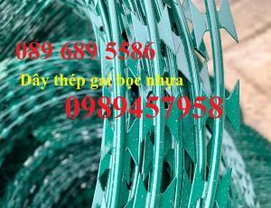 Dây thép gai hình cầu, Dây kẽm lam giá rẻ, dây thép gai bọc nhựa