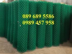 Lưới b40 bọc nhựa khổ 2,4m mầu xanh và mầu ghi, Lưới làm sân bóng đá, Lưới sân tennis