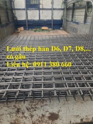 Lưới thép hàn gân từ 3mm đến 14mm... kích thước khổ lưới, ô lưới đa dạng