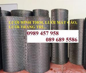 Lưới dập giãn 3ly khổ 30x60, Lưới thép hình thoi 4ly, 5ly, Lưới dập giãn mạ kẽm nhúng nóng