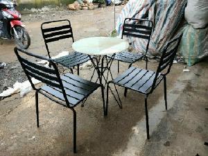 Bộ bàn ghế sắt mỹ nghệ cao cấp Ak002