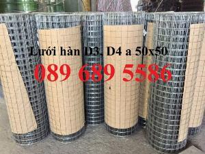 Lưới thép làm giàn phong lan, Lưới thép Phi3 ô 50x50, Lưới phi 4 ô 50x50 dạng cuộn