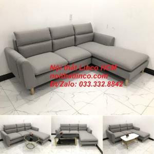 Sofa góc giá rẻ | Ghế sofa góc L xám trắng đẹp giá rẻ nhỏ | Nội thất Linco Tphcm HCM Sài Gòn Hồ Chí Minh SG
