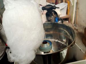 Máy làm kem bồng máy làm kẹo bông khung inox