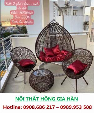 Xích Đu Thư Giãn_ Bancon, Sân Vườn, Phòng Khách