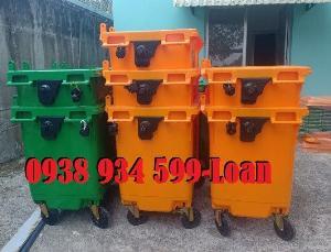 Thùng rác công cộng 660 lít,xe thu gom rác 660 lít