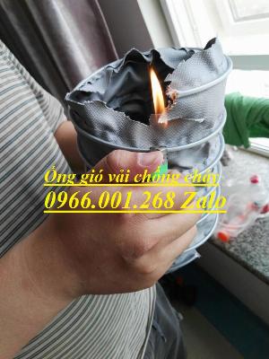 Phân phối ống gió vải chống cháy , ống gió vải chịu nhiệt max 400 độ C phi 100,phi 125,phi 150,phi 200 giá rẻ
