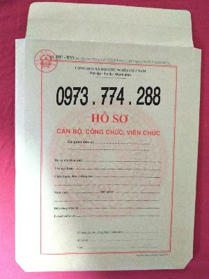 Bán túi mẫu B07-BNV thông tư 07/2019