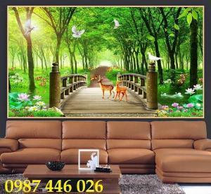Gạch tranh, gạch ốp tường, tranh trang trí phòng khách đẹp HP031