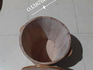 Thùng đựng gạo gỗ Sồi 30 kg.