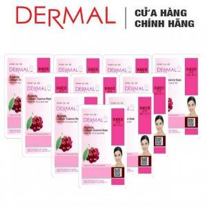 Mặt Nạ Dermal Tinh Chất Sơri Ngăn Ngừa Lão Hóa Da Acerola Collagen Essence Mask 23g - 10 Miếng