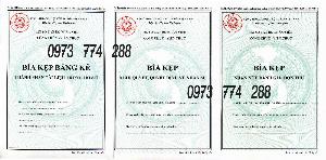3 bìa kẹp mẫu 01b, 06b, 07b-BNV/2019 ban hành theo thông tư 07