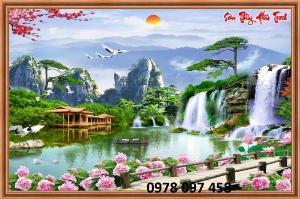 Tranh phong cảnh hữu tình - gạch tranh