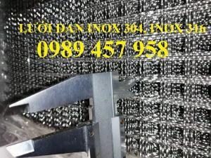 Lưới đan inox 304 dây 1ly, 1,2ly 1,5ly ô 15x15, 20x20, 30x30, 50x50