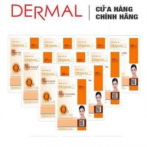 Mặt Nạ Dermal Tinh Chất Q10 Ngăn Ngừa Lão Hóa Da Q10 Collagen Essence Mask 23g - 10 Miếng