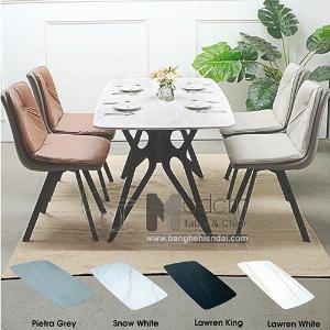 Bộ bàn ghế ăn 1m4 mặt đá cho căn hộ TN Wings Lux 16A