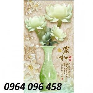 Gạch ốp tường 3d bình hoa sứ ngọc - SHH6