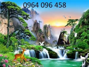 Tranh gạch 3d - gạch tranh 3d phong cảnh thiên nhiên - SKG55