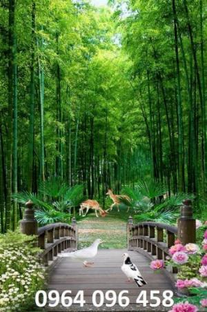 Tranh gạch men 3d rừng tre trúc - CN55
