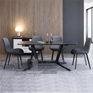 Bộ bàn ghế ăn mặt đá 1m6 dành cho 4 người hiện đại