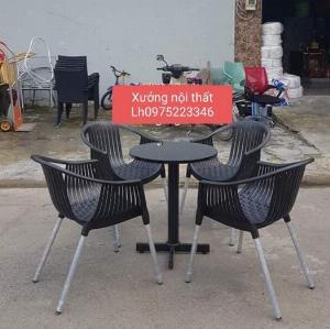 Chuyên sản xuất bàn ghế nhựa đúc thúng nhiều màu giá rẻ nhất..