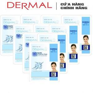 Mặt Nạ Dermal Tinh Chất Hyaluronate Dưỡng Ẩm Da Hyaluronate Collagen Essence Mask 23g - 10 Miếng