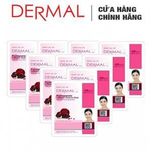 Mặt Nạ Dermal Tinh Chất Lựu Làm Săn Chắc Da Pomegranate Collagen Essence Mask 23g - 10 Miếng