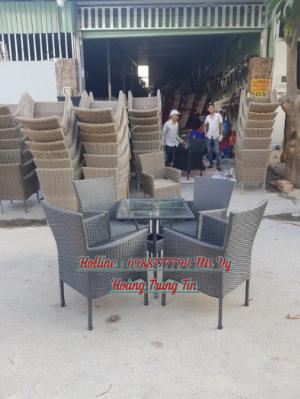 Bàn ghế mây cafe giá rẻ ghế bao chất lượng