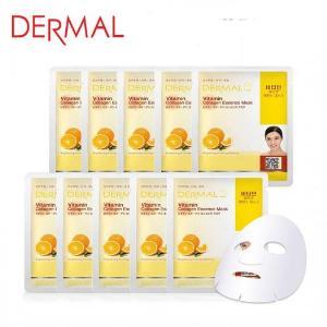Mặt Nạ Dermal Tinh Chất Vitamin Làm Sáng Da Vitamin Collagen Essence Mask 23g - 10 Miếng