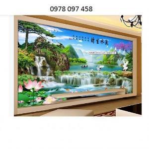 Tranh trang trí phòng khách - tranh thác nước