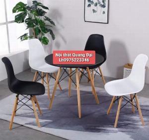Ghế  NHỰA chân gỗ dành cho cafe,trà sữa,ăn vặt giá rẻ nhất là đây