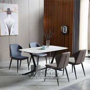 Bộ bàn ghế ăn mặt đá 1m6 dành cho 4 người hiện đại TN Ronto Eco 4A