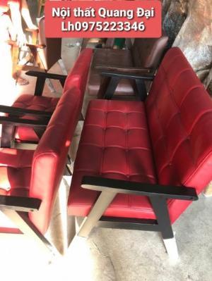 Sofa gỗ tự nhiên nguyên khối được bọc simili....