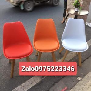 Ghế cao cấp cafe nhựa chân gỗ bọc nệm giá rẻ nhất