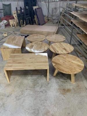 Bàn ghế gỗ khối cóc giá tại xưỡng