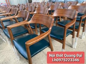 Ghế gỗ sơn PU có nệm giá rẻ tại xưởng sản xuất Nội Thất Quang Đại