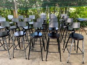 Ghế quầy đen Nội Thất Quang Đại
