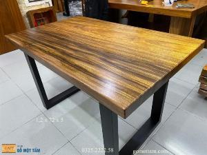 Bàn gỗ me tây nguyên tấm dài 1,2m x rộng 72cm x dầy 5cm
