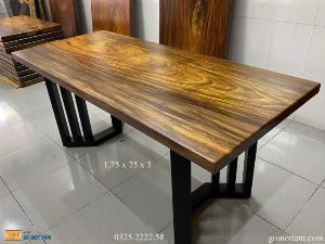 [ Giá Huỷ Diệt ] Bàn gỗ me tây nguyên tấm dài 1,75m x rộng 75cm x dầy 5cm