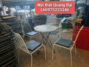 Ghế sắt sơn tỉnh điện nhiều màu giá tại xưởng sản xuất (Bàn Ghế cafe đẹp Quang Đại)