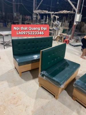 Ghế sofa gỗ bọc simili sản phẩm đẹp được bán từ (Nội Thất QUANG ĐẠI)