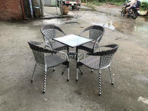 Bộ bàn ghế nhựa mây cafe giá rẻ