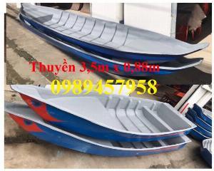 Thuyền câu cá cho 2 người, Thuyền chèo tay 3m, Thuyền 3,5