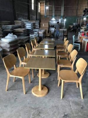 Bộ bàn ghế GỖ tự nhiên nguyên khối xịt phủ bóng