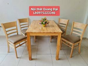 Bộ bàn ghế ăn bằng gỗ giá rẻ tại xưởng