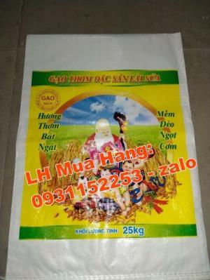 Bao in trục đồng theo mẫu có sẵn từ 10kg đến 25kg
