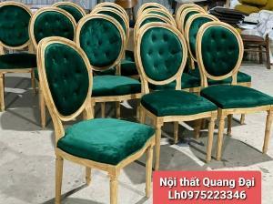 Ghế gỗ bọc vải nhung cao cấp mẫu chuẩn đẹp và sang